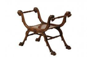 Curule Chair - 19th C Renaissance Revival Court