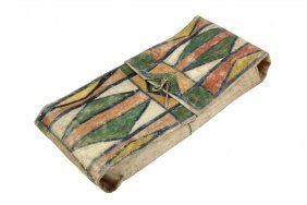 Native American Pack - Crow Painted Parfleche Envelope,