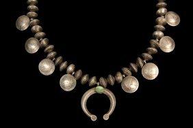 Gent's Necklace - Rare Navajo Silver Quarter Necklace