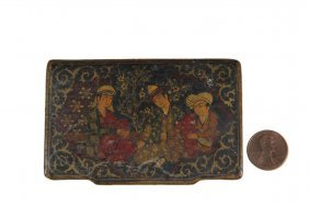 Persian Trinket Box - Antique Islamic Persian Qajar