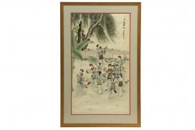 Chinese Painting - Early 20th C., Twelve Young Beauties