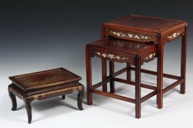 Chinese Miniature Stacking Tables & Small Japanese