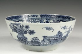 Chinese Export Bowl - Late 18th C. Canton Blue & White