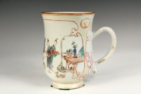 Scarce Chinese Export Tankard - Late 18th C. Mandarin