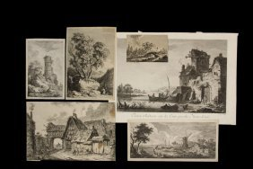 Collection Of (16) Germanic 17th & 18th C Landscape &