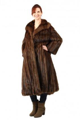Ladies Fur Coat - Fine Quality Full Length Natural