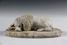 Marble Desktop Carving - Late 18th To Early 19th C.