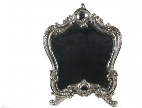 Sterling Silver Framed Mirror - French Baroque