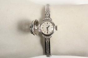 Lady's Wristwatch - 18k White Gold And Diamond Rolex