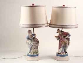 Pair Of Bisque Figures - Outstanding Pair Of Bisque