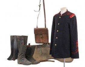 Indian War Us Army Cavalry Parade Uniform - Consisting
