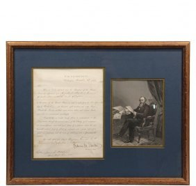 Civil War Appointment - Signed By Edwin M. Stanton As