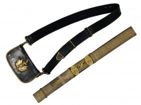 British Army Parade Belt & Cartridge Sling- Victorian