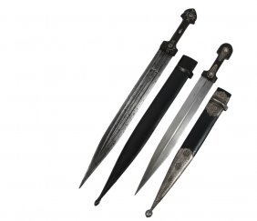 (2) Central Asian Kindjal Daggers - Both 19th C,