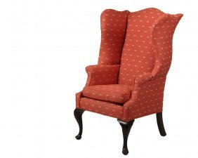 Replica Wingchair - Queen Anne Style With Camel Back,