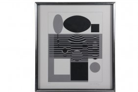 "Victor Vasarely (france/hungary, 1906-1997) - ""ohndo"","