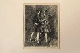 "Reginald Marsh (ny/vt, 1898-1954) - ""two Flappers"