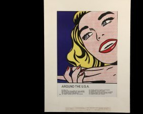 "Roy Lichtenstein (ny, 1923-1997) - ""around The U.s.a."""