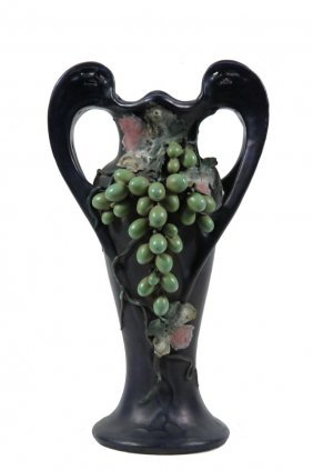 Art Nouveau Austrian Porcelain Vase - A Glorious Tall