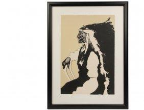 "Fritz Scholder - ""patriotic Indian"", Limited Edition"