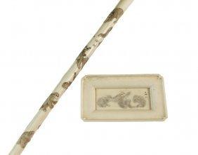 (2 Pcs) 19th C Japanese Carvings - Both Meiji Period,