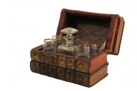 Book Tantalus - Liquor Cordial Decanter And Four