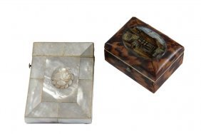 (2) Small Boxes - Early 19th C. English Oblong