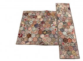 (2) Matching Hooked Rugs - Circa 1930-40. Maine Made,