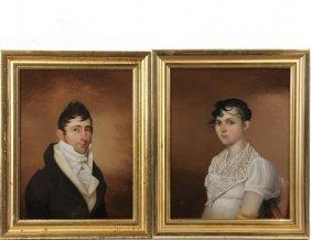 Pair Of New York Portraits - Historic Matrimonial