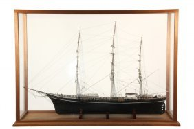 "Large Cased Ship Model - Clipper Ship ""cutty Sark"","