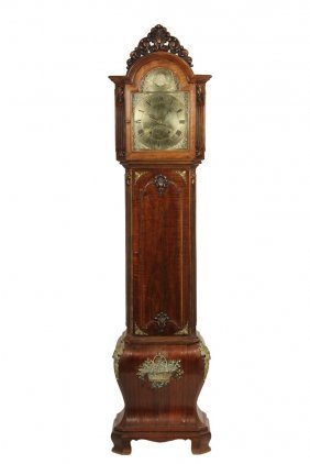 Dutch Style Tall Clock - Three-part Baroque Style Tall