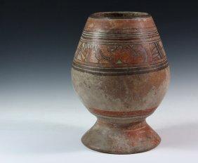 Pre-columbian Pottery Vessel - Mayan, Classic Period,