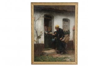 Georges Francois P Langee (france, 1853-1937) - Beggar