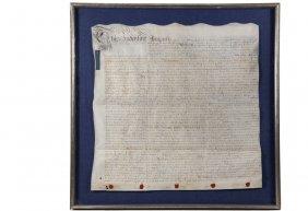 1745 English Land Deed - George Ii Reign Deed Between