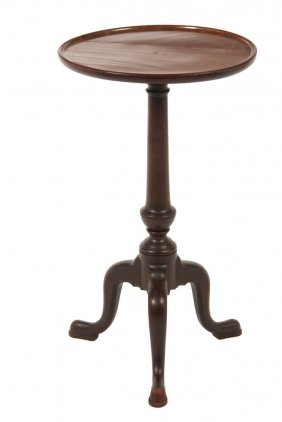 Colonial Candlestand - Early 18th C. Queen Anne Period