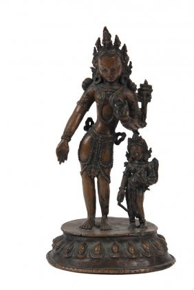 Asian Bronze Sculpture - Bronze Of Standing Hindu