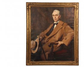 "Dewitt Lockman (ny/ct, 1870-1957) - ""portrait Of"