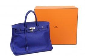 Hermes Birkin Bag - Bleu Electric Hermès Birkin 40 Cm