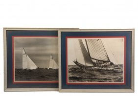 (4) Yachting Photographs - America's Cup Yacht Racing