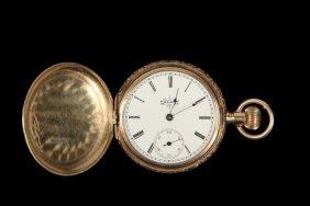 Lady's Pendant Watch - Hunter Case Pendant Watch, 14k