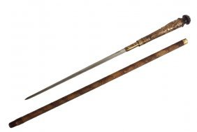 Victorian Sword Cane - Japanese Short Sword Cane