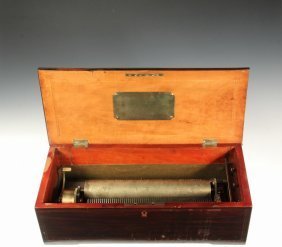 Small French Tabletop Music Box - A Rare Crank-wind
