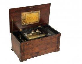 "Swiss Music Box - 12 Tune 11"" Cylinder Tabletop Music"