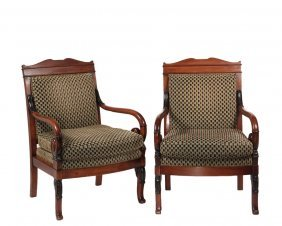 Pair Of French Style Armchairs - Empire Style Armchairs