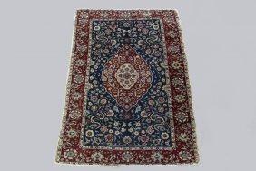 """Tabriz Carpet - 3'11"""" X 5'6"""" - Figural Tabriz, Circa"""
