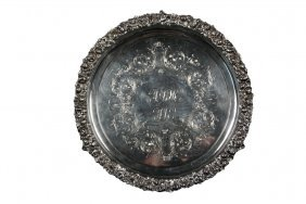 Silver Tray - Mid-19th C. American Coin Silver Round