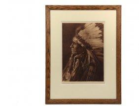 "Edward Curtis (ca, 1868-1952) - ""american Horse -"