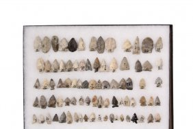 (82) Native American Projectile Points In (1) Display
