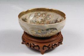 Japanese Porcelain Bowl - Imperial Satsuma Bowl, Meiji