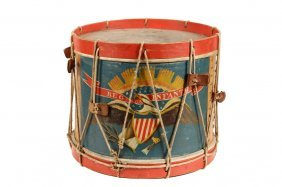 Civil War Field Drum - A. Rogers Snare Marching Drum,
